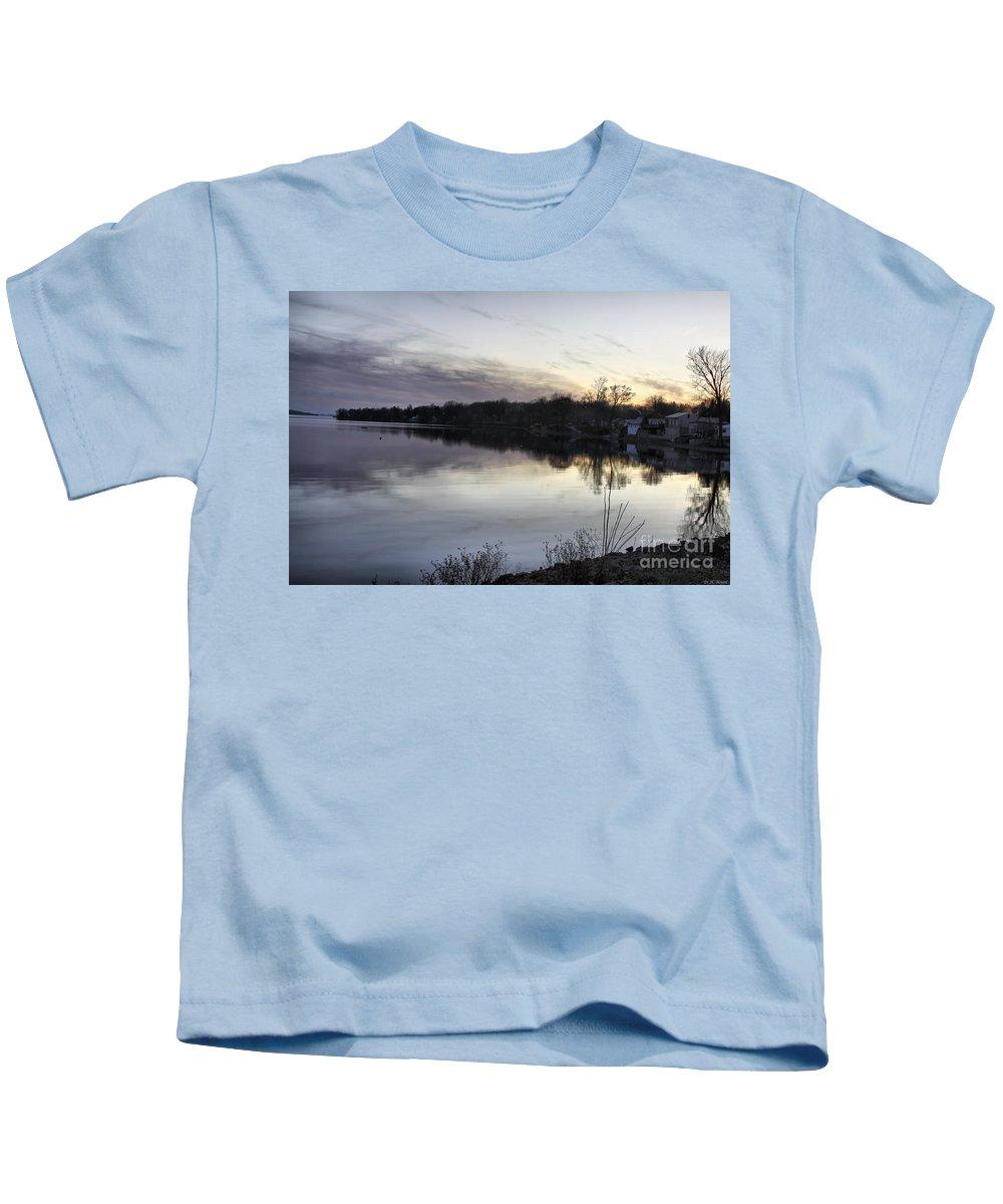 Lake Champlain Kids T-Shirt featuring the photograph Evening Light On Lake Champlain by Deborah Benoit