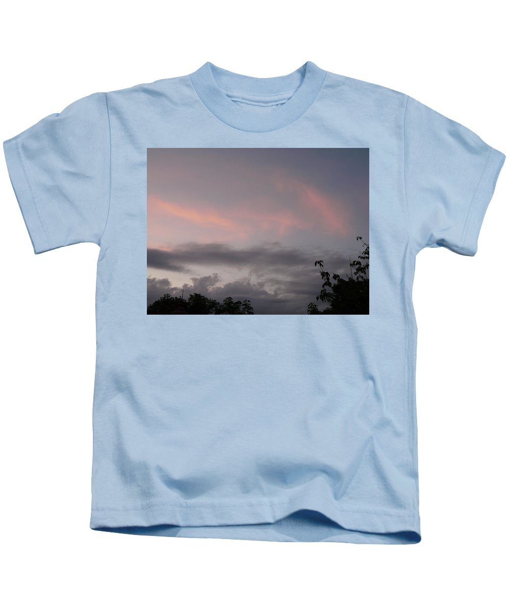 Sky Kids T-Shirt featuring the photograph Evening Sky by Valerie Ornstein