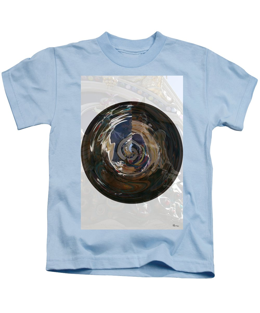 Women Lady Girl World Space Portal Relm Escape Abstract Kids T-Shirt featuring the photograph Faded Lady by Andrea Lawrence