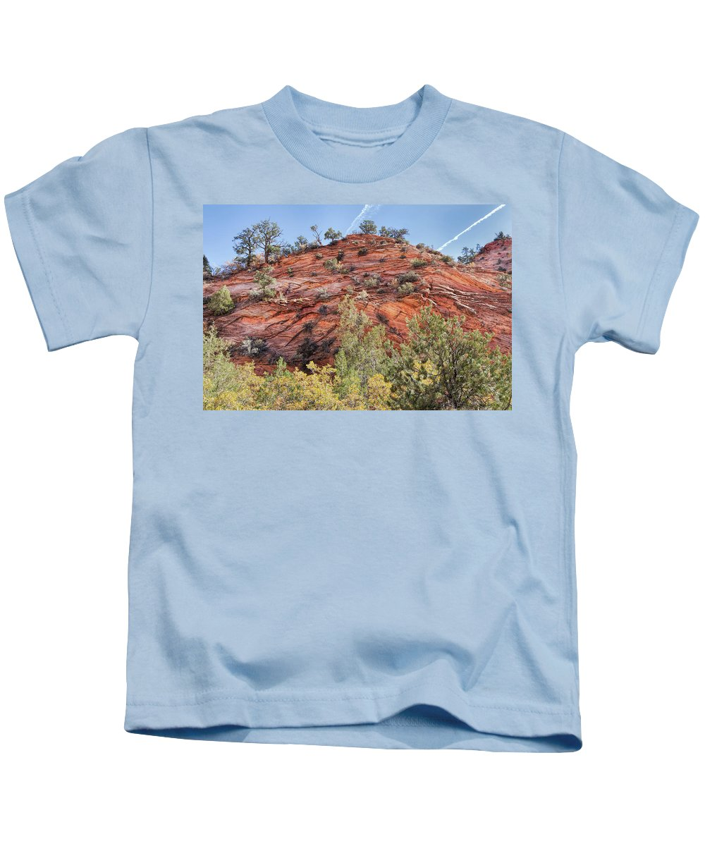 John Bailey Kids T-Shirt featuring the photograph Fall Begins In Zion by John M Bailey