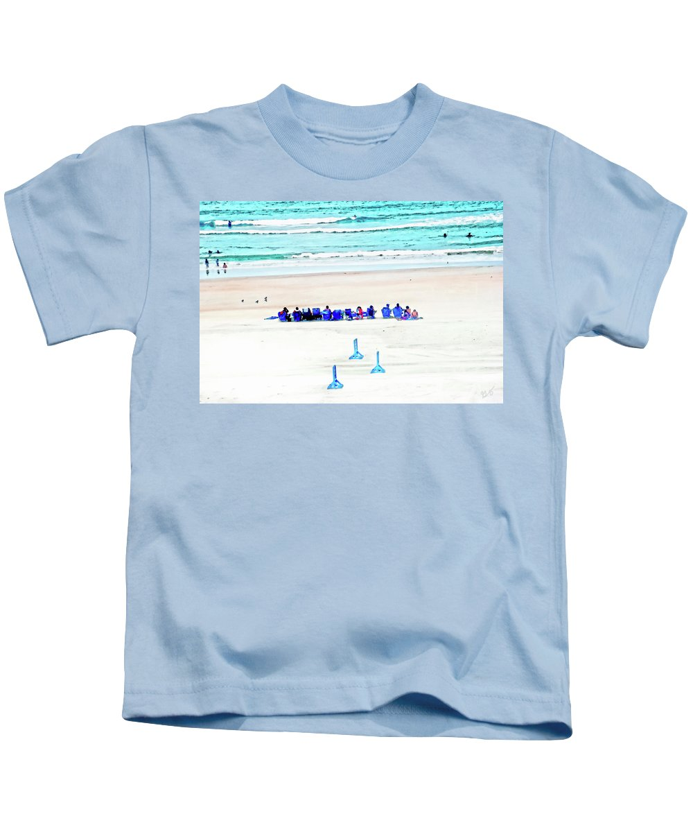Beach Kids T-Shirt featuring the photograph Family Day At Beach by Gina O'Brien