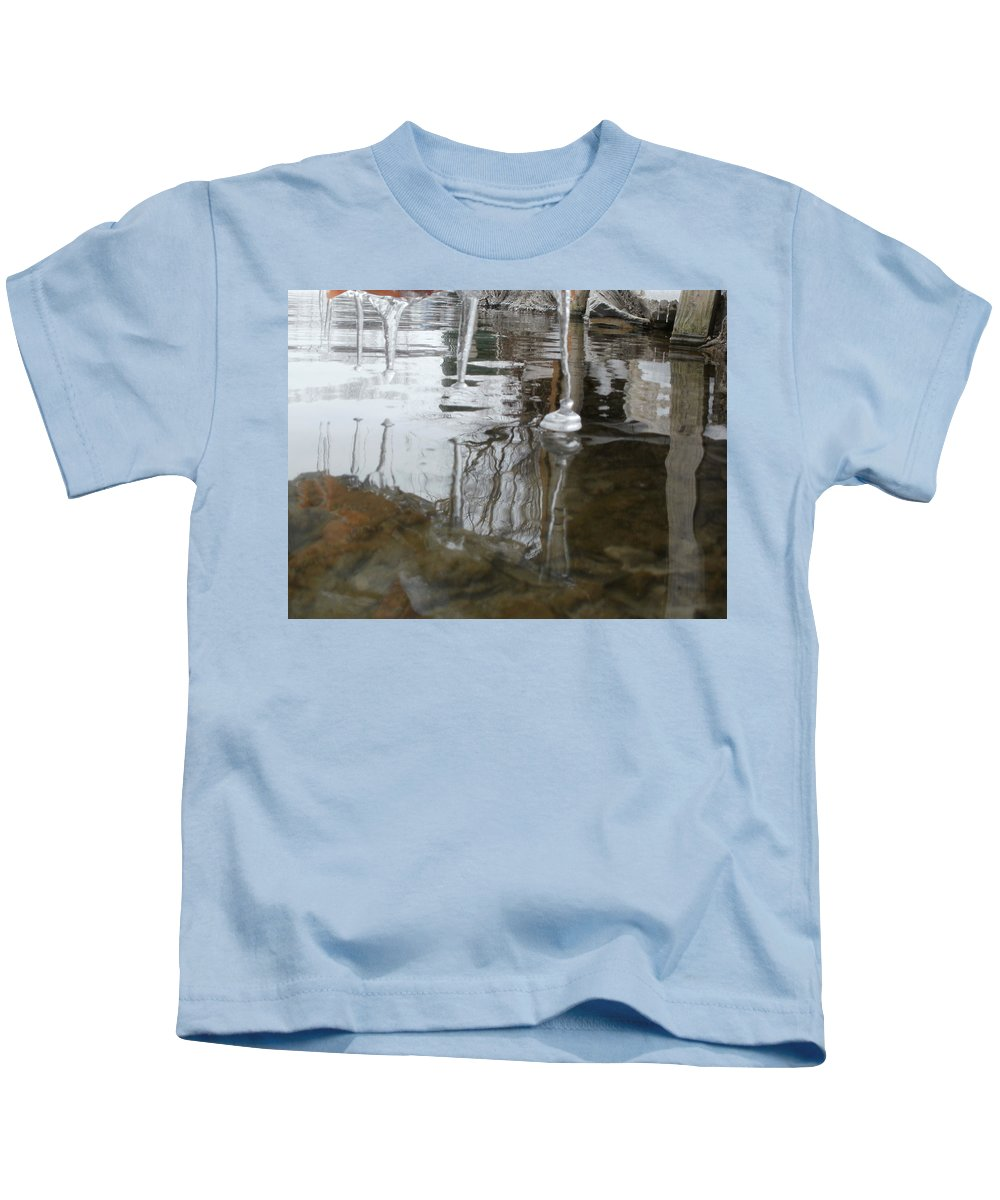 Ice And Water Kids T-Shirt featuring the photograph Fangs by Constantin Musat