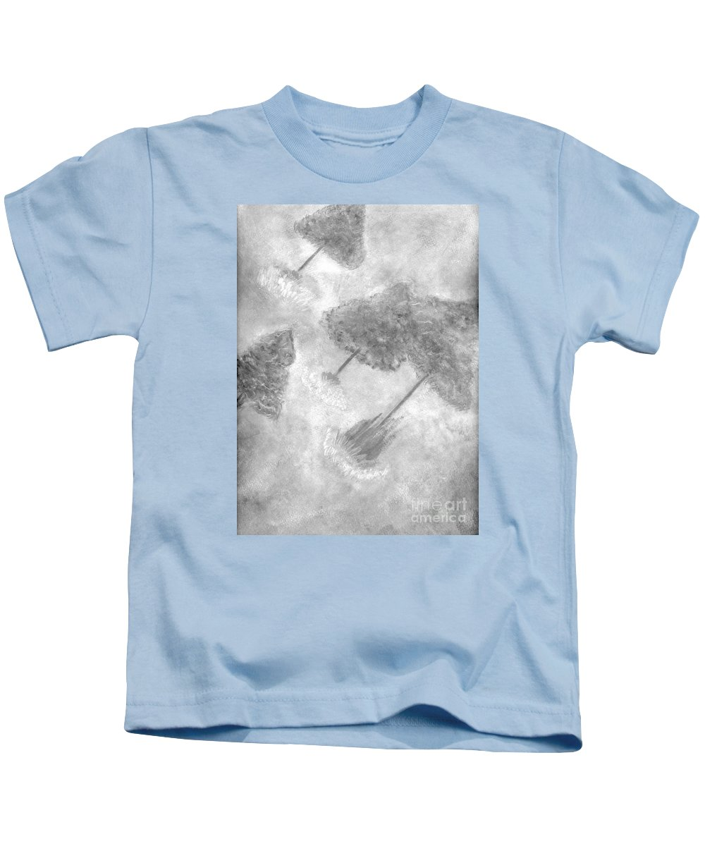 Drawing Kids T-Shirt featuring the painting Fantasy Trees by Mary Zimmerman