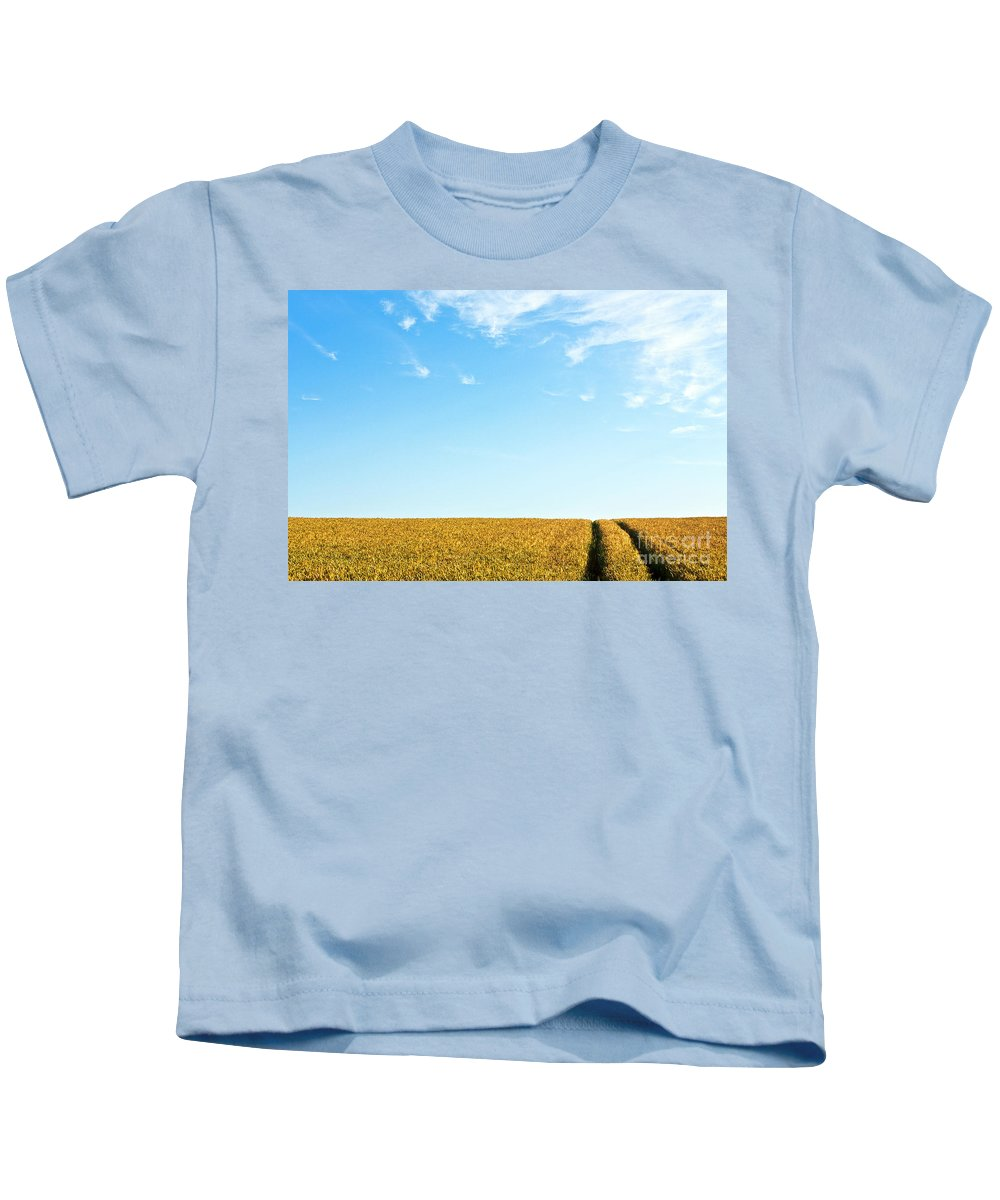 Europe Kids T-Shirt featuring the photograph Farmland To The Horizon 1 by Heiko Koehrer-Wagner