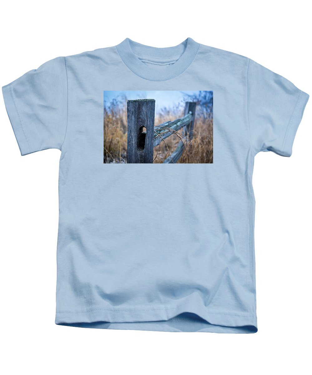 Landscape Kids T-Shirt featuring the photograph Fences by Alvin Sangma