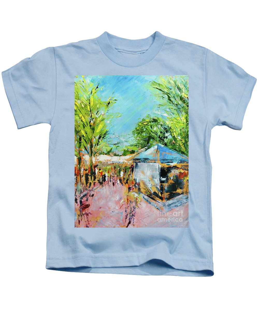Art Festival Kids T-Shirt featuring the painting Festival by Alan Metzger