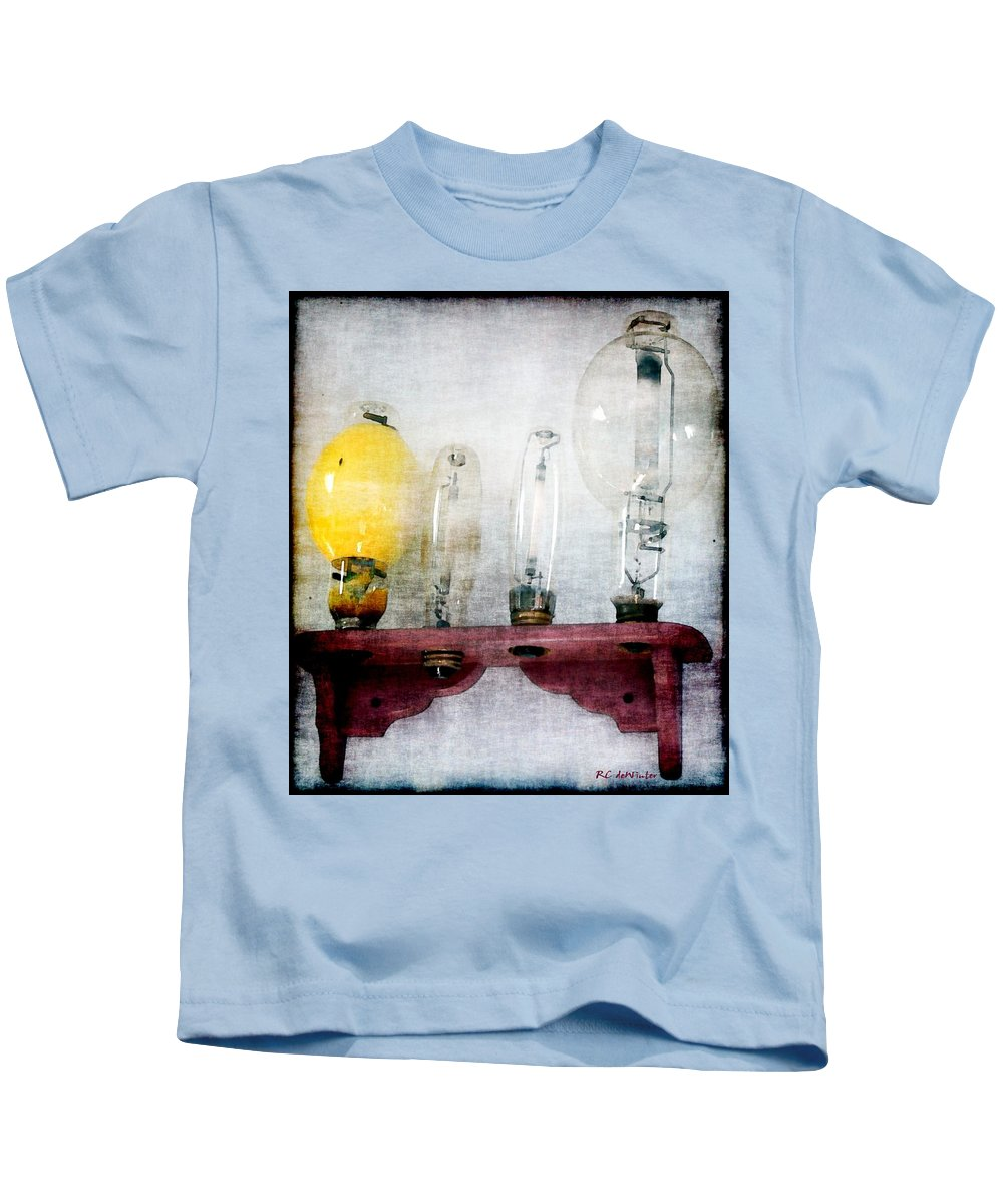 Antiques Kids T-Shirt featuring the painting 'filamentary My Dear Watson' by RC DeWinter