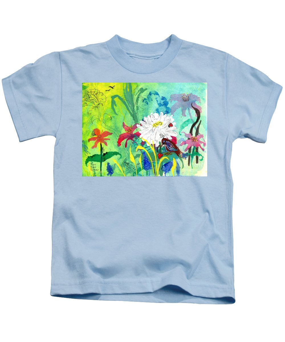 Finding Hope Kids T-Shirt featuring the painting Finding Hope by Robin Maria Pedrero