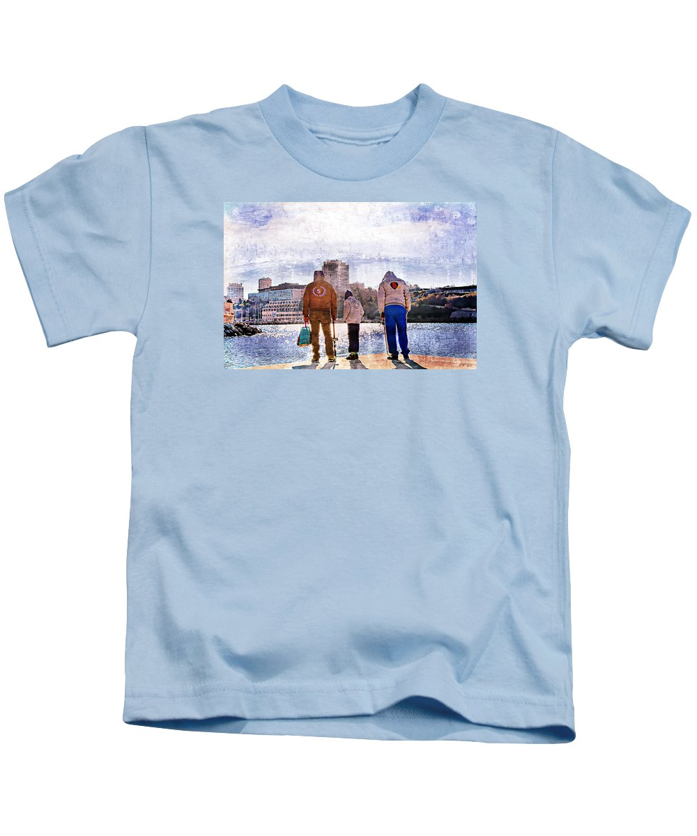 Graphic Kids T-Shirt featuring the photograph Five Triple by Jean Francois Gil