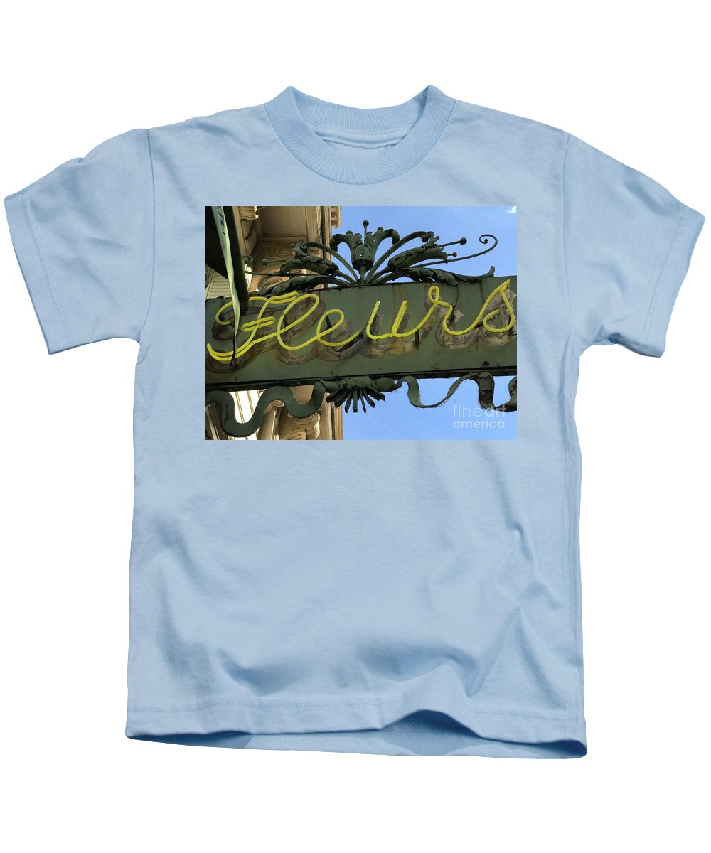 French Kids T-Shirt featuring the photograph Fleurs by Nadine Rippelmeyer