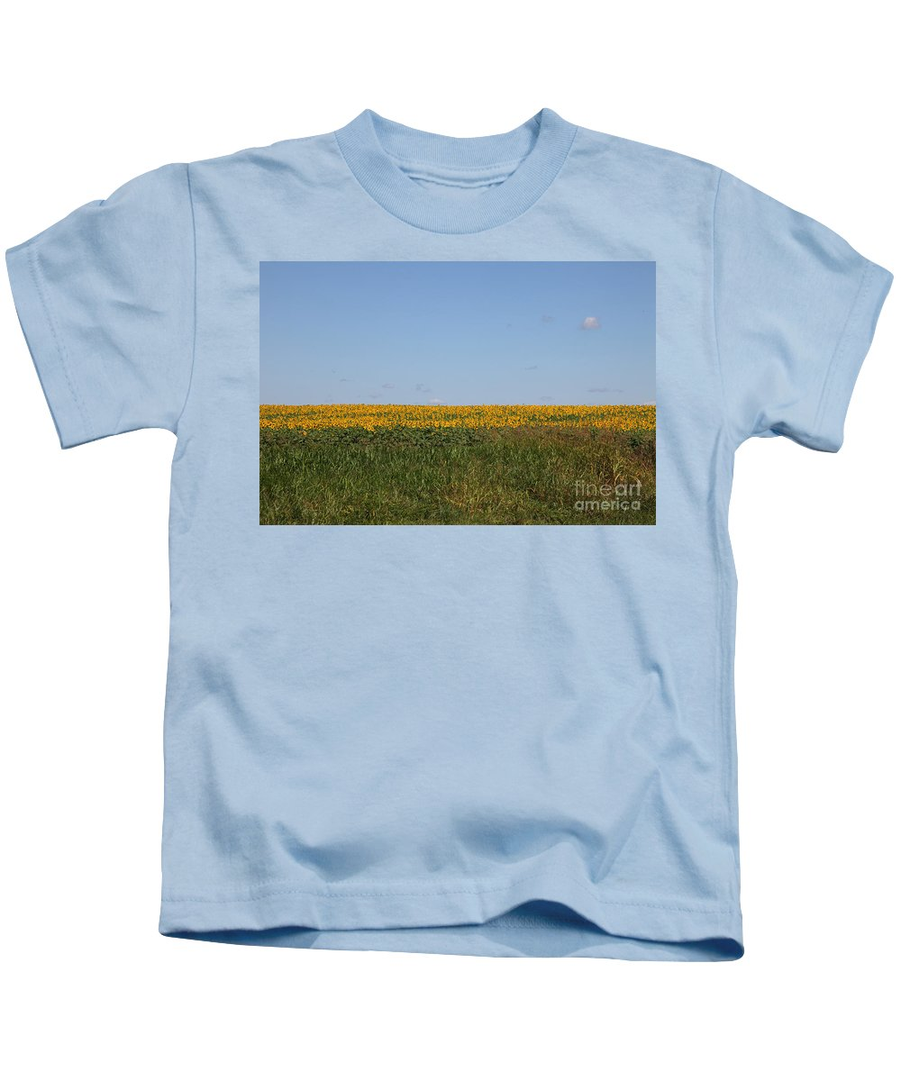 Sunflowers Kids T-Shirt featuring the photograph Floral Blur by Amanda Barcon