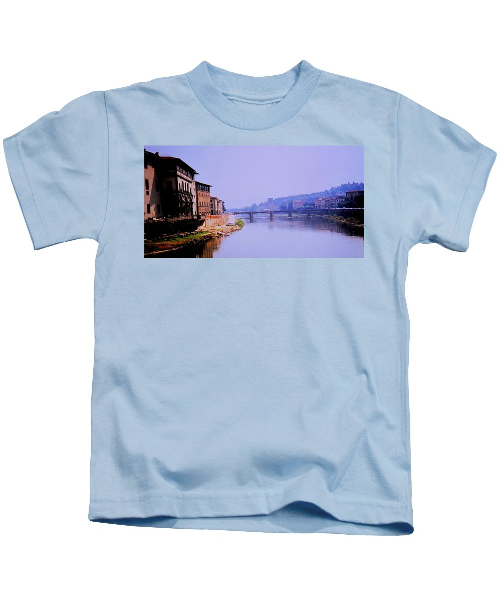 Florence Kids T-Shirt featuring the photograph Florence by Ian MacDonald