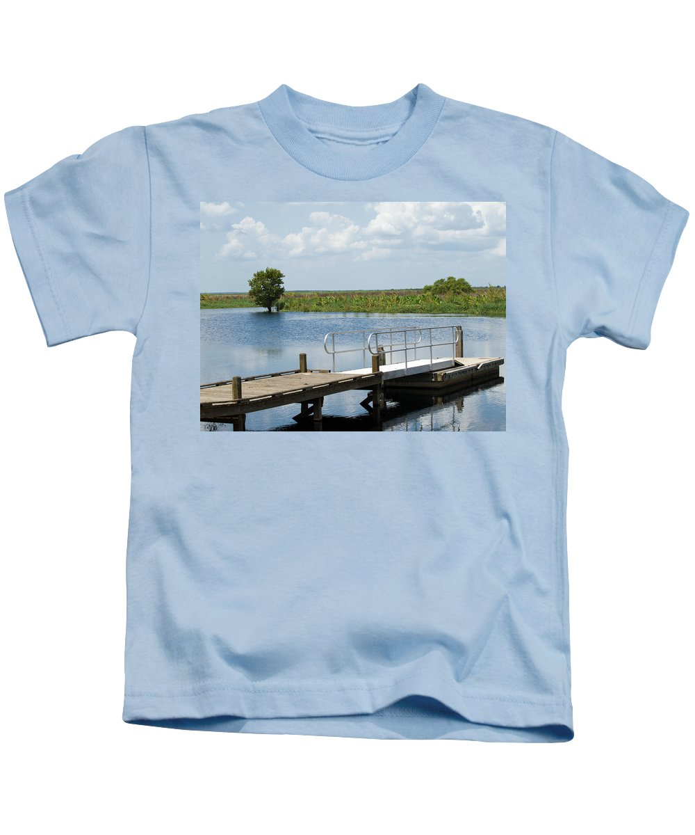 Florida; River; St; Johns; Saint; John; Flow; Flows; North; South;direction; Flowing; Current; Backw Kids T-Shirt featuring the photograph Florida Backwater by Allan Hughes