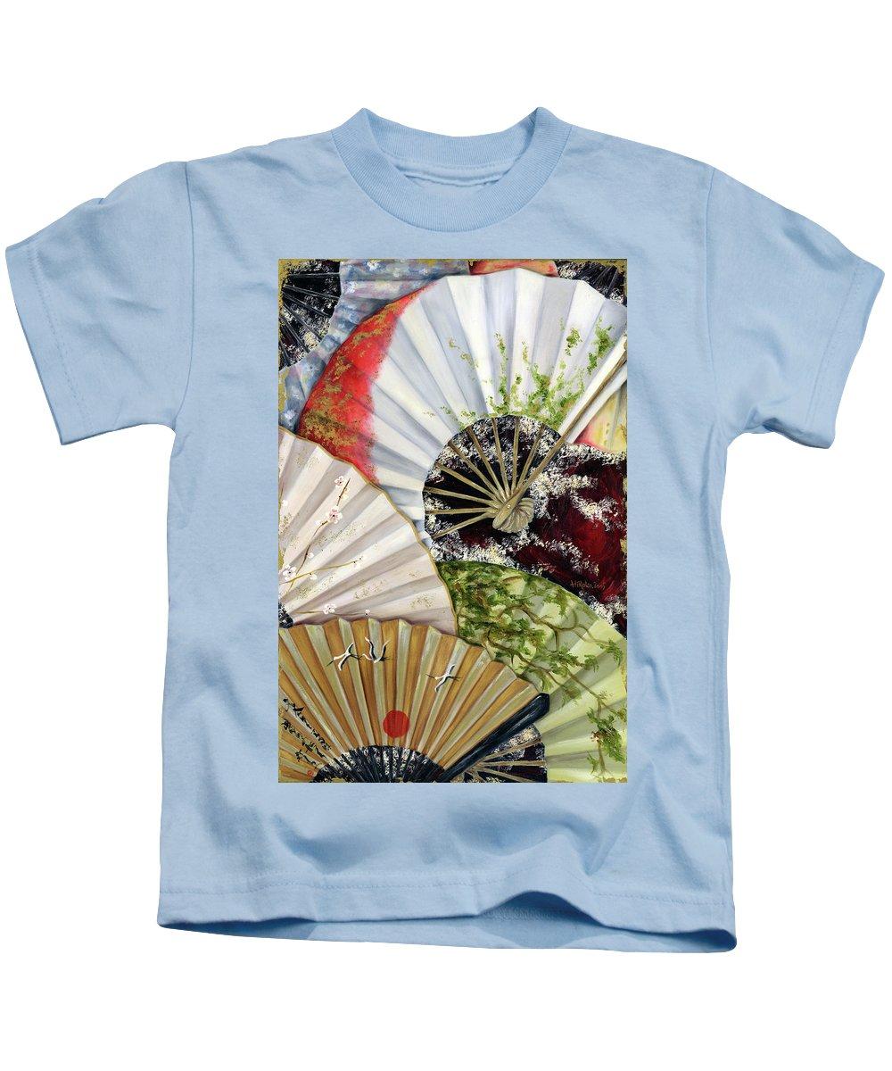 Japanese Kids T-Shirt featuring the painting Flower Garden by Hiroko Sakai