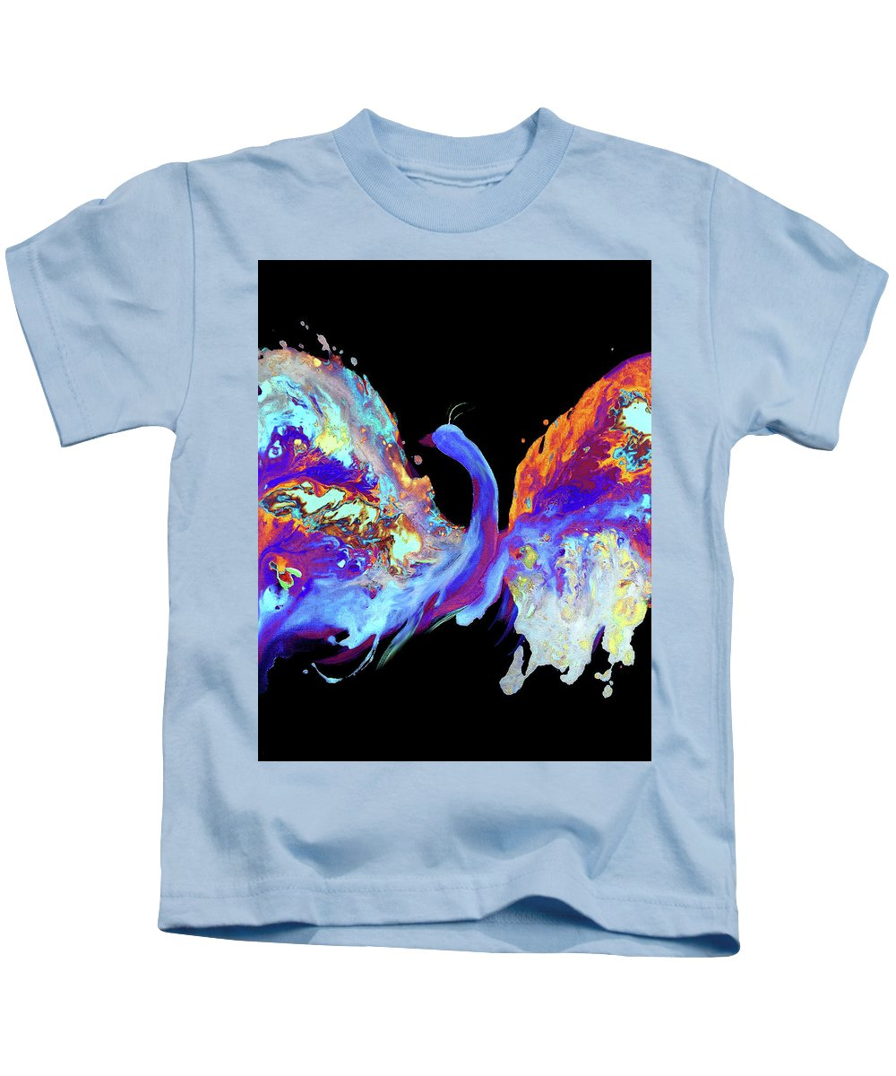 Kids T-Shirt featuring the painting Fly Away by Destiny Womack