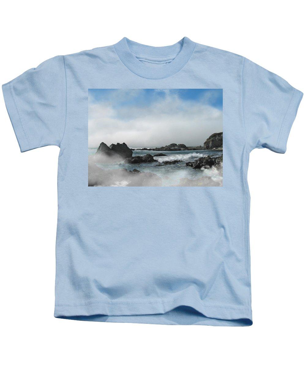Ocean Kids T-Shirt featuring the photograph Fog Lift by Karen W Meyer