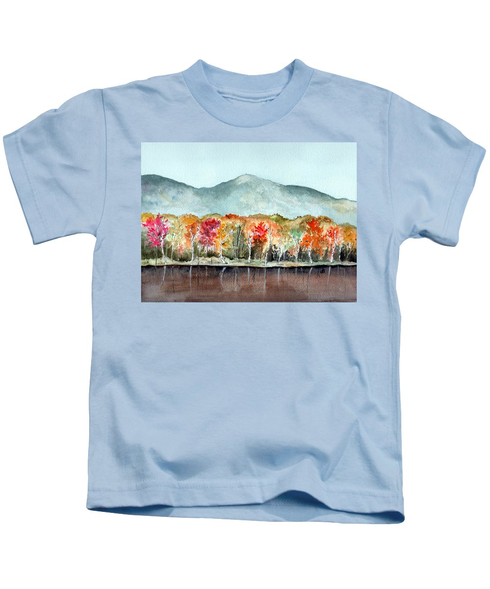 Watercolor Kids T-Shirt featuring the painting Foliage by Brenda Owen