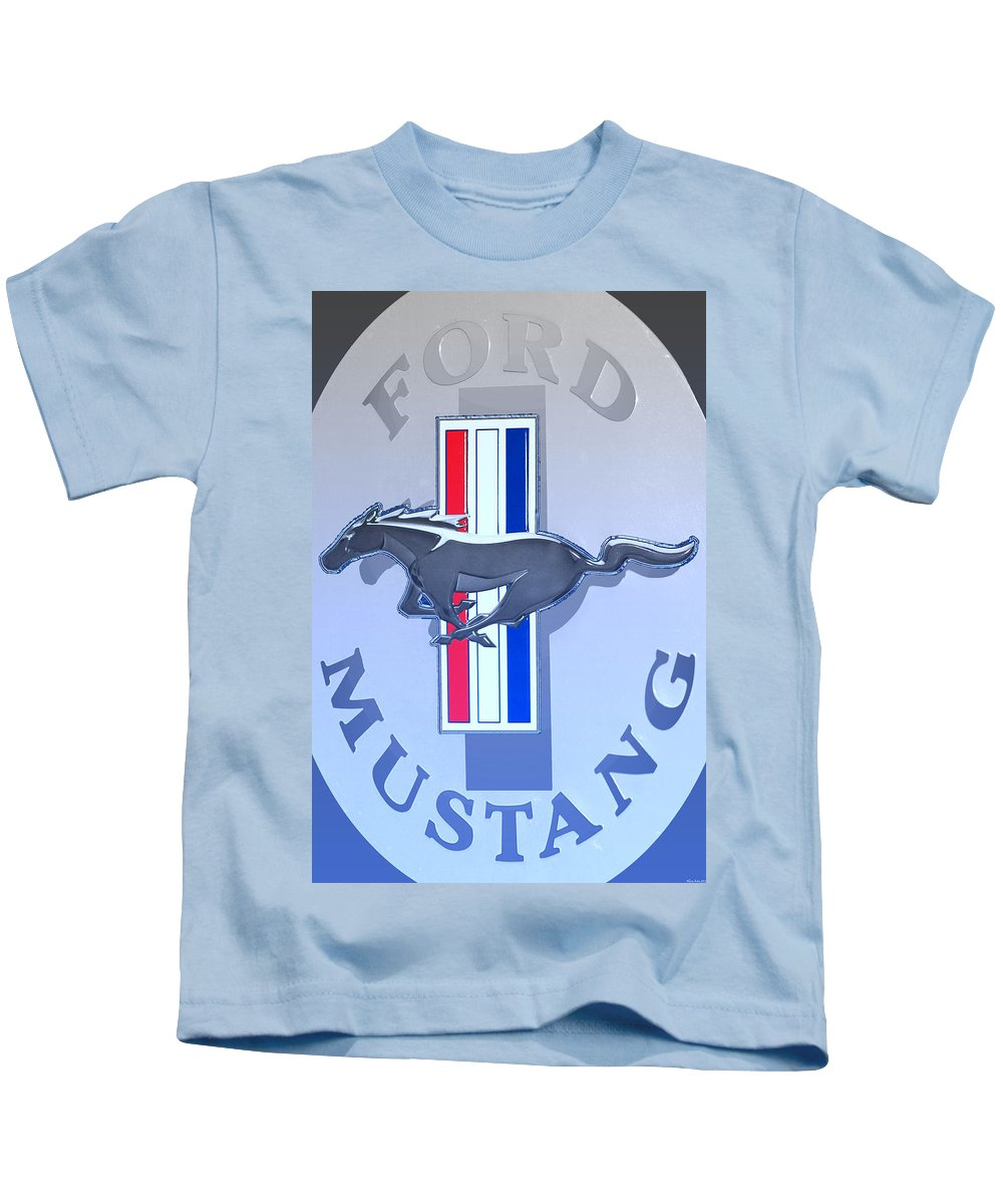 Ford Kids T-Shirt featuring the photograph Ford Mustang by Gray Artus