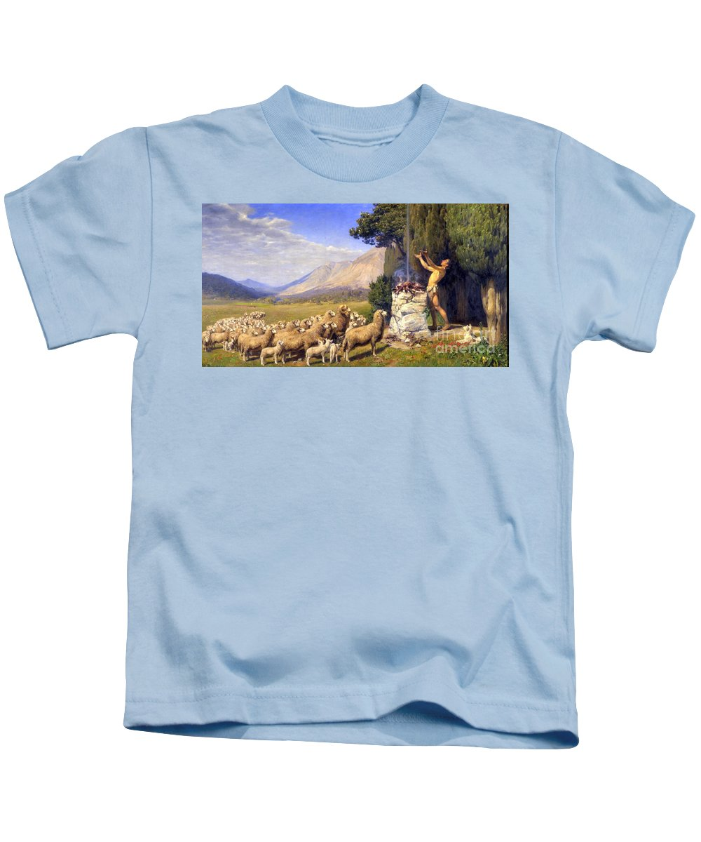 Img_1311 Kids T-Shirt featuring the painting Forest by MotionAge Designs