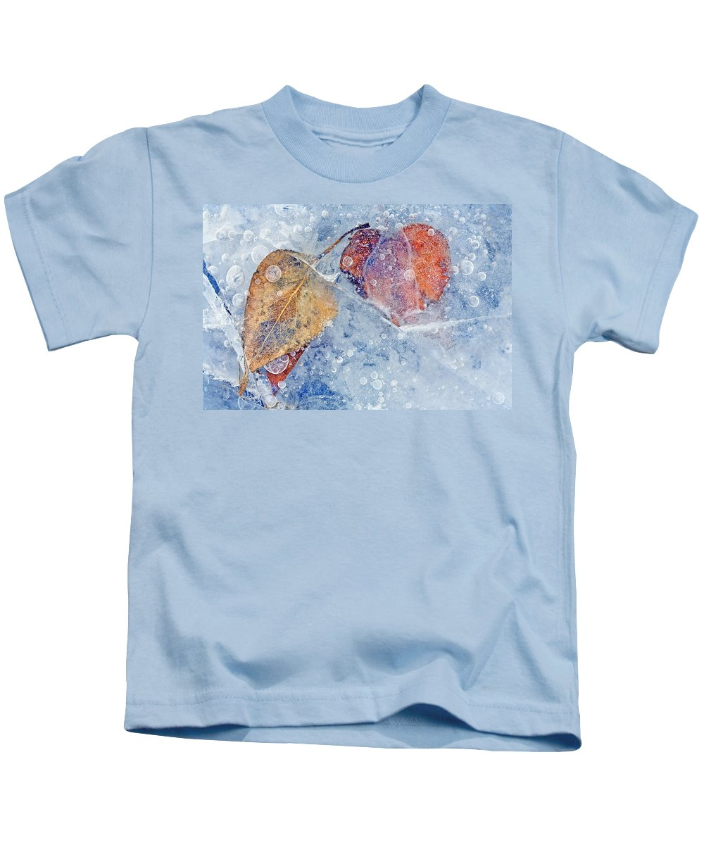 Ice Kids T-Shirt featuring the photograph Fractured Seasons by Mike Dawson
