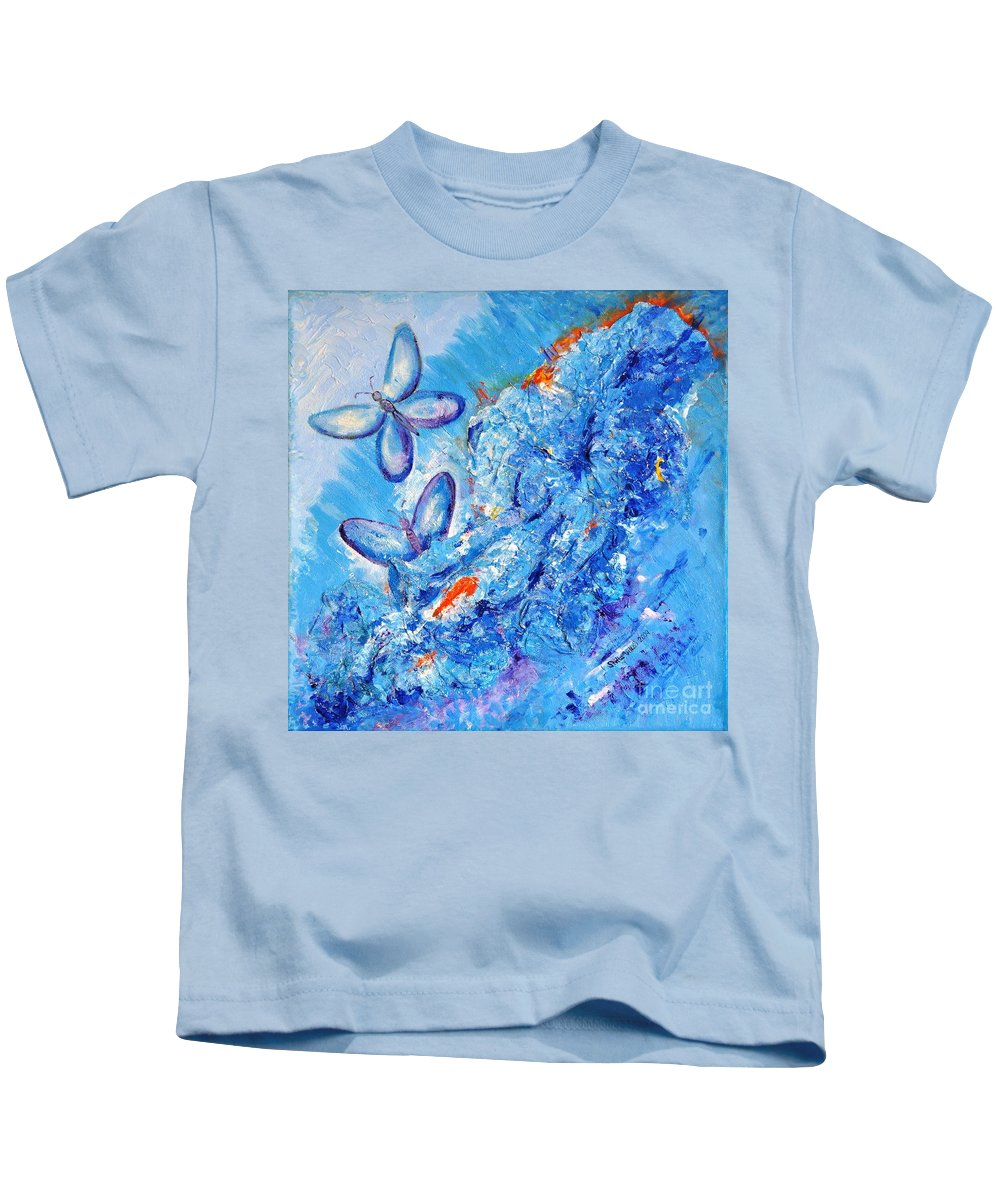 Fantasy Kids T-Shirt featuring the painting Freedom In Soul by Stella Velka