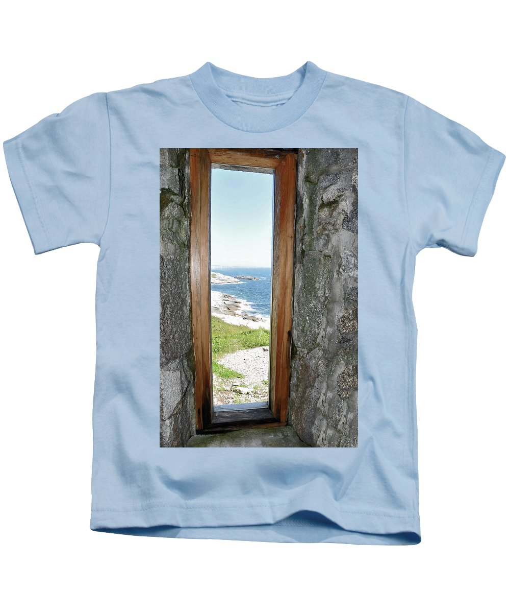 Lighthouse Kids T-Shirt featuring the photograph From The Lighthouse by Colleen English