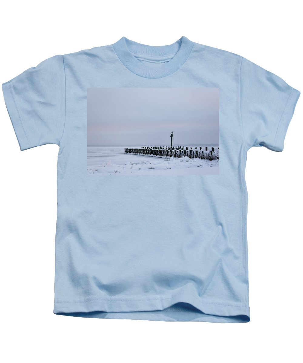 Winter Kids T-Shirt featuring the photograph Frosty Morning by Kellie Prowse