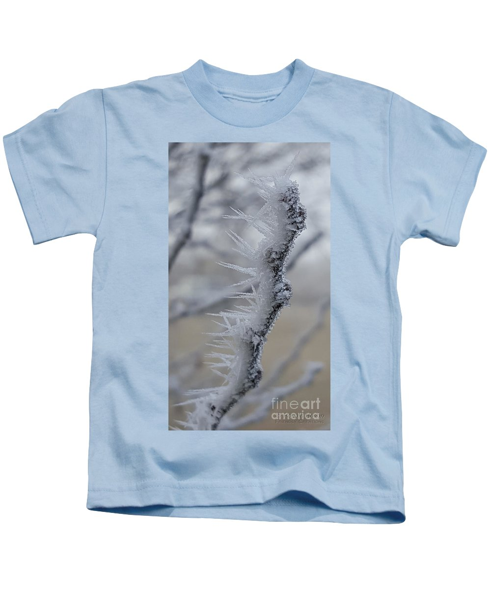 Nature Kids T-Shirt featuring the photograph Frozen 2 by Ronald Hoehn