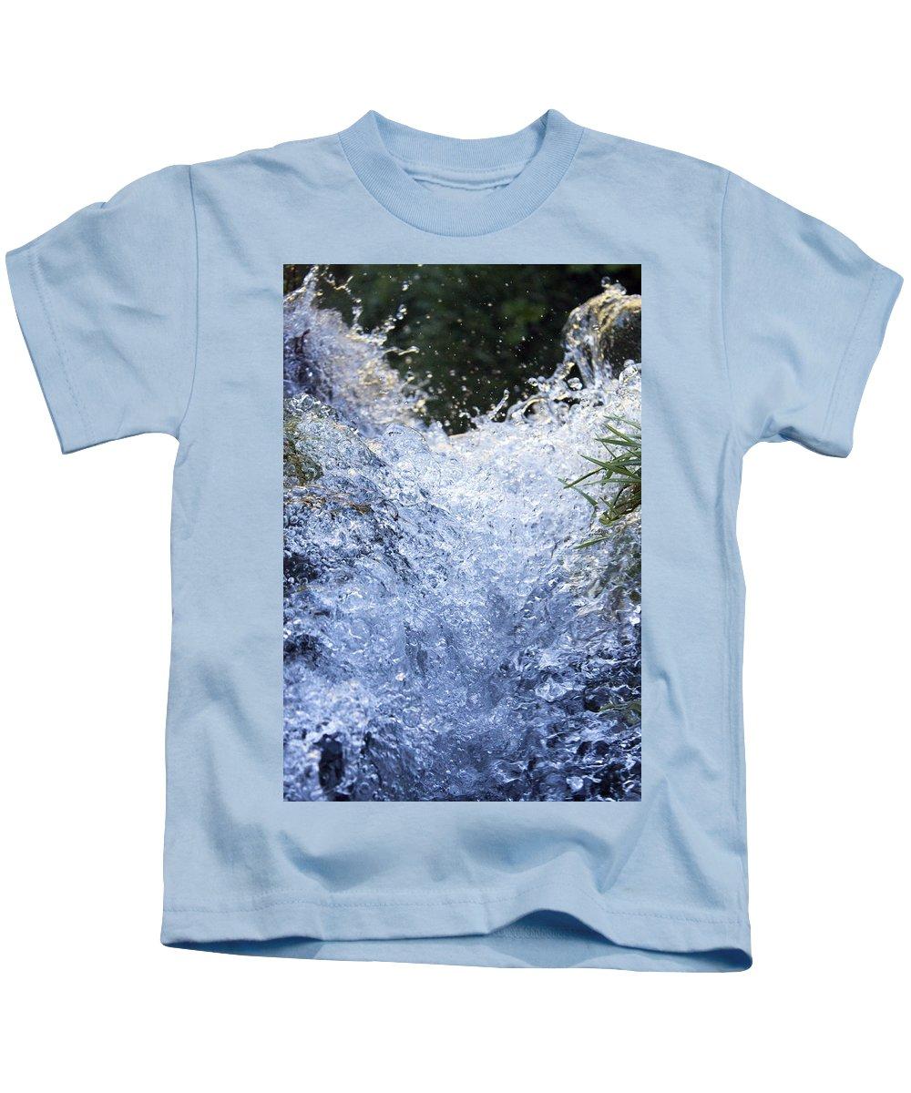 Nature Kids T-Shirt featuring the photograph Frozen II by Daniel Csoka