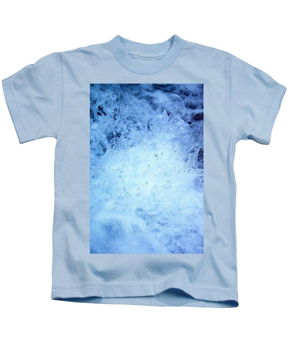 Nature Kids T-Shirt featuring the photograph Frozen Iv by Daniel Csoka
