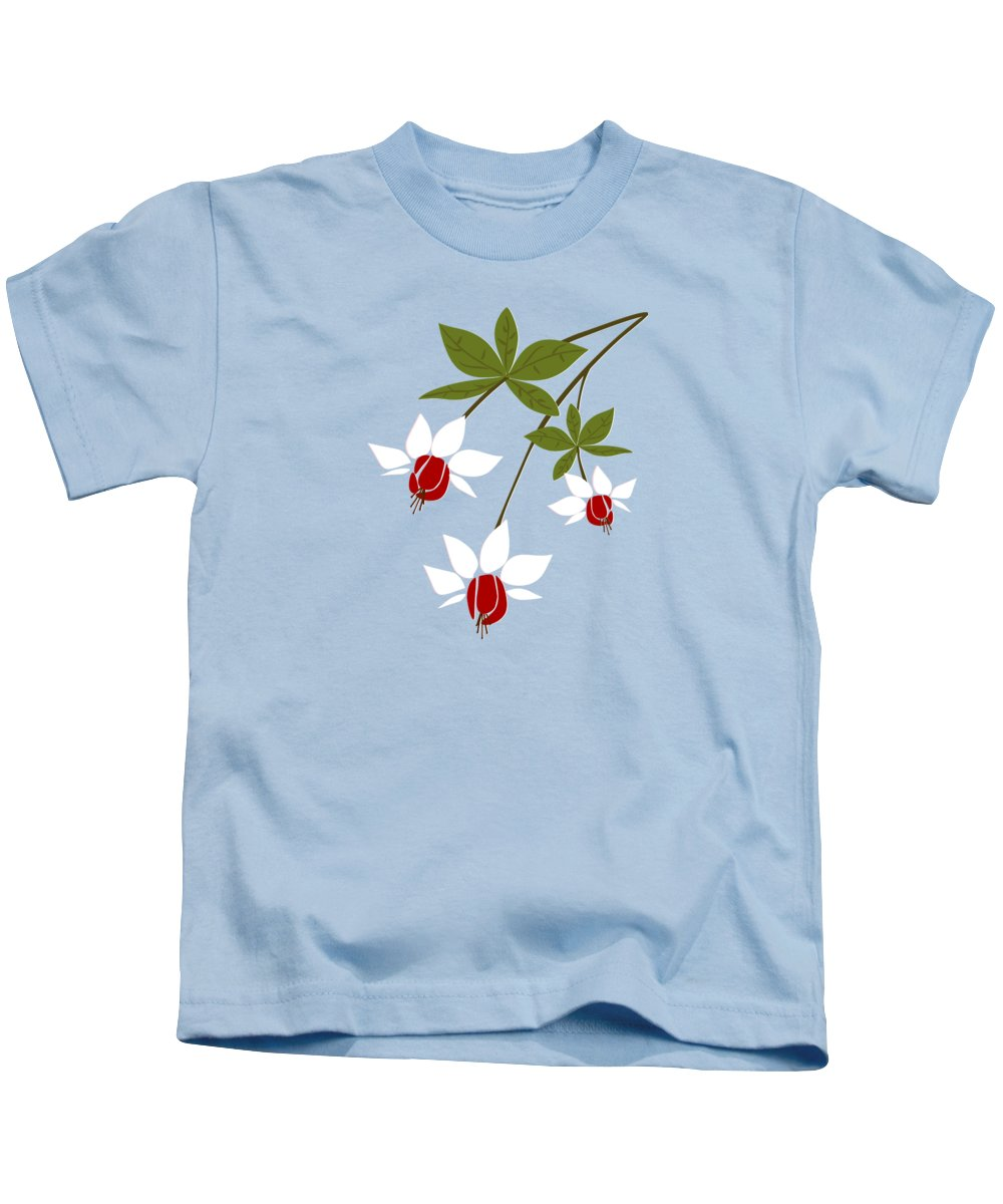 Fuchsia Kids T-Shirt featuring the digital art Fuchsia by Anastasiya Malakhova