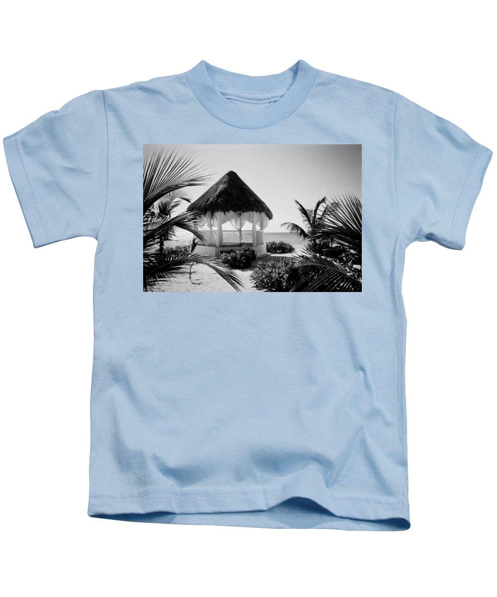 Gazebo Kids T-Shirt featuring the photograph Gazebo On The Ocean by Anita Burgermeister