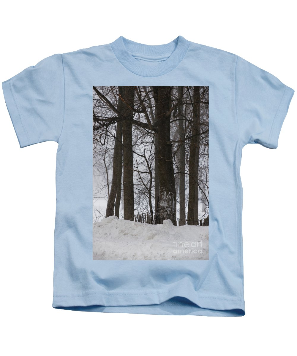 Woods Kids T-Shirt featuring the photograph Gentle Giants by Linda Shafer