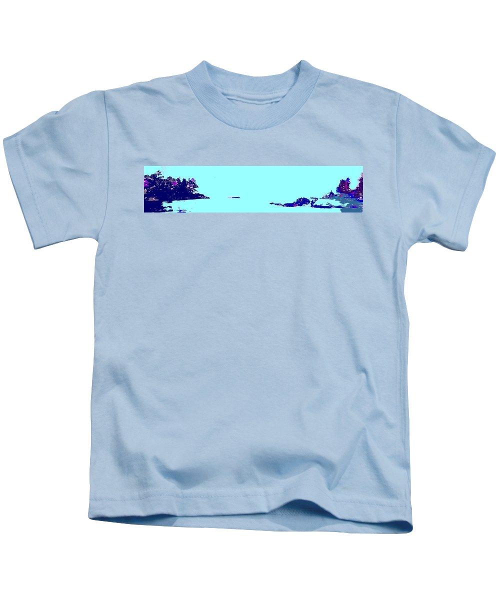 Kids T-Shirt featuring the photograph Georgian Bay Blue by Ian MacDonald