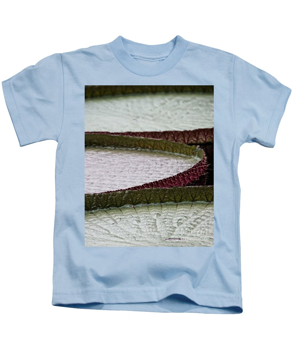 Lily Kids T-Shirt featuring the photograph Giant Lilly Pads by Tom Gari Gallery-Three-Photography