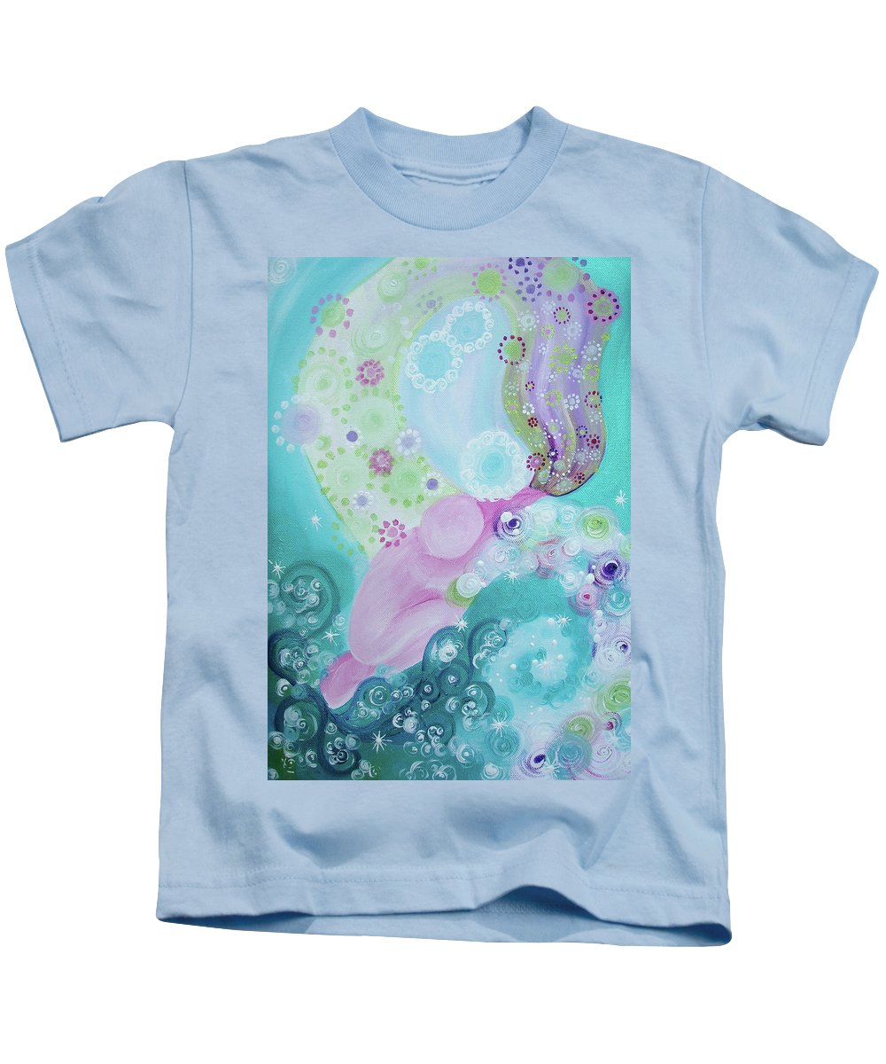 Giving Back Kids T-Shirt featuring the painting Giving Back by Catt Kyriacou