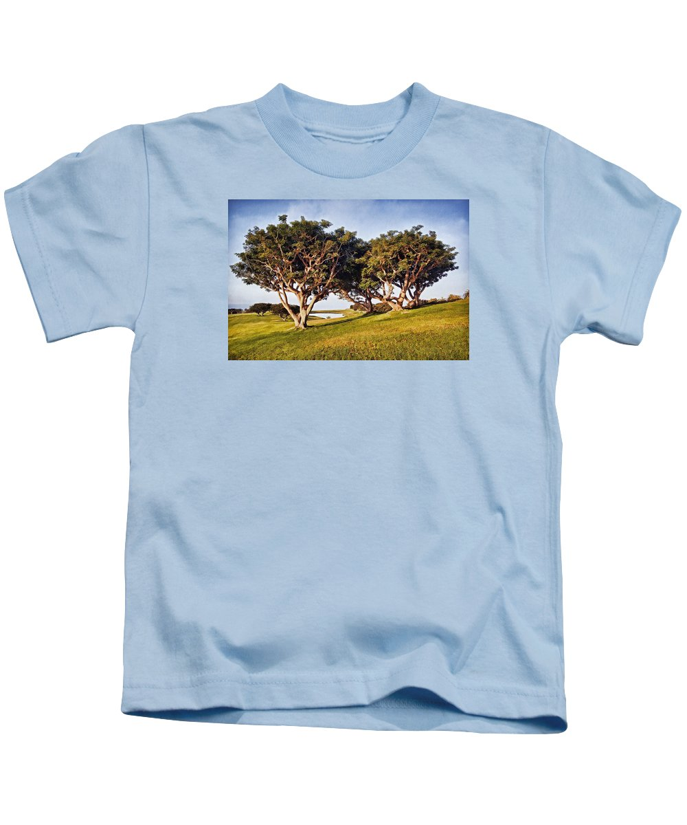 Trees Kids T-Shirt featuring the photograph Glory In The Morning Pntb by Theo O'Connor