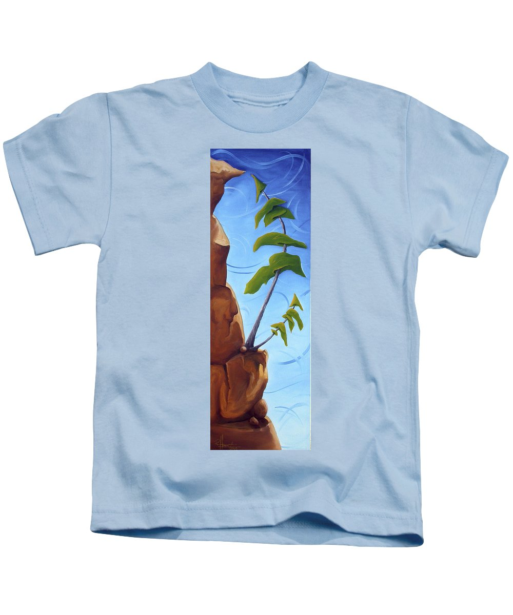 Landscape Kids T-Shirt featuring the painting Goals by Richard Hoedl