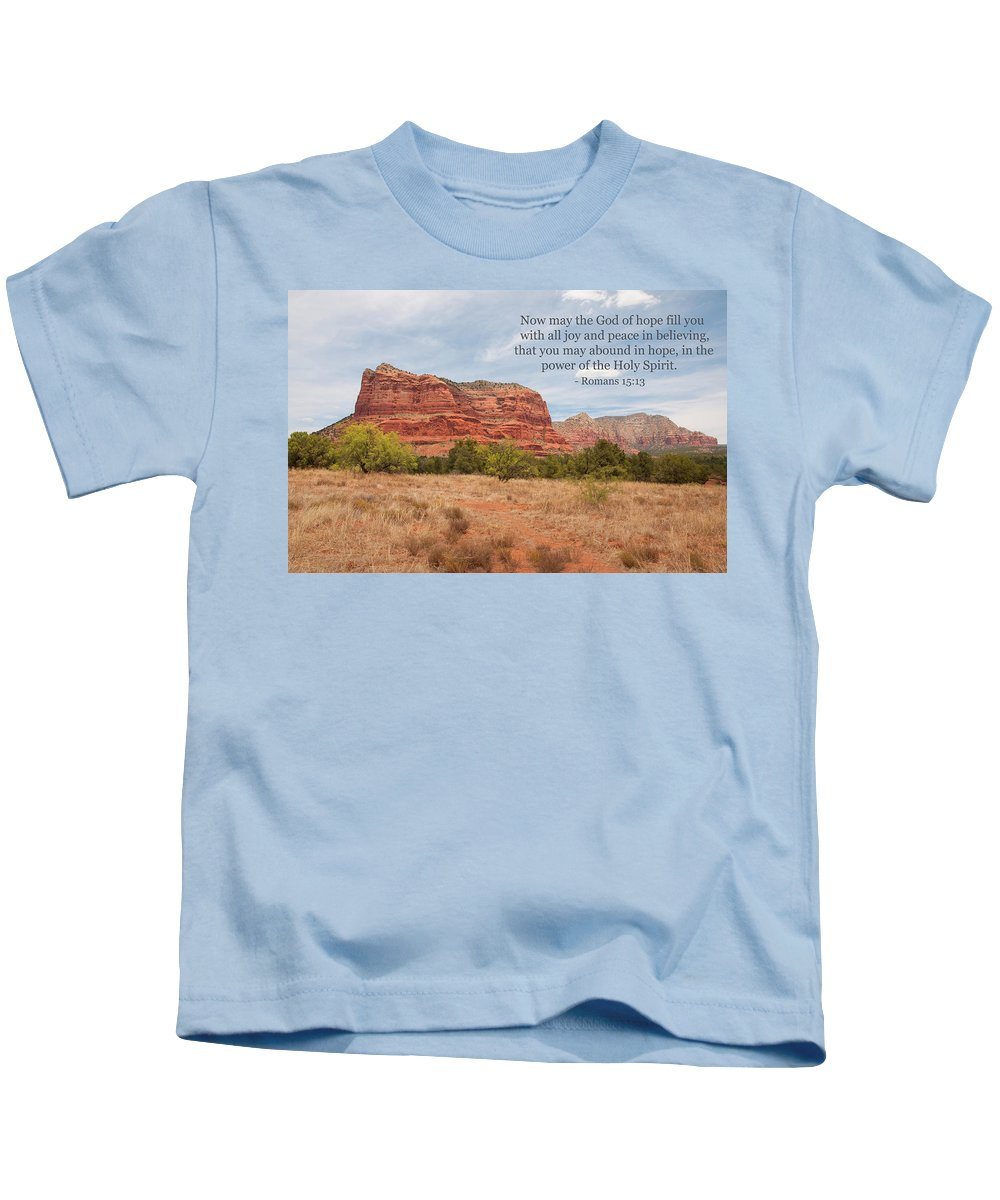 Landscape Kids T-Shirt featuring the photograph God Of Hope by Kim Warden