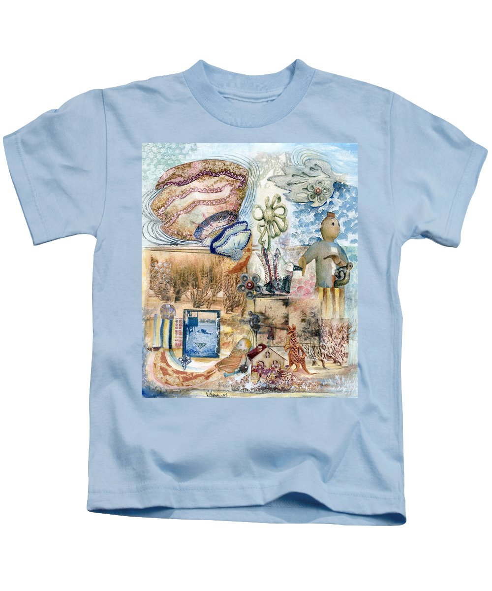 Fantasy Digital Art Kids T-Shirt featuring the painting Going Down by Valerie Meotti
