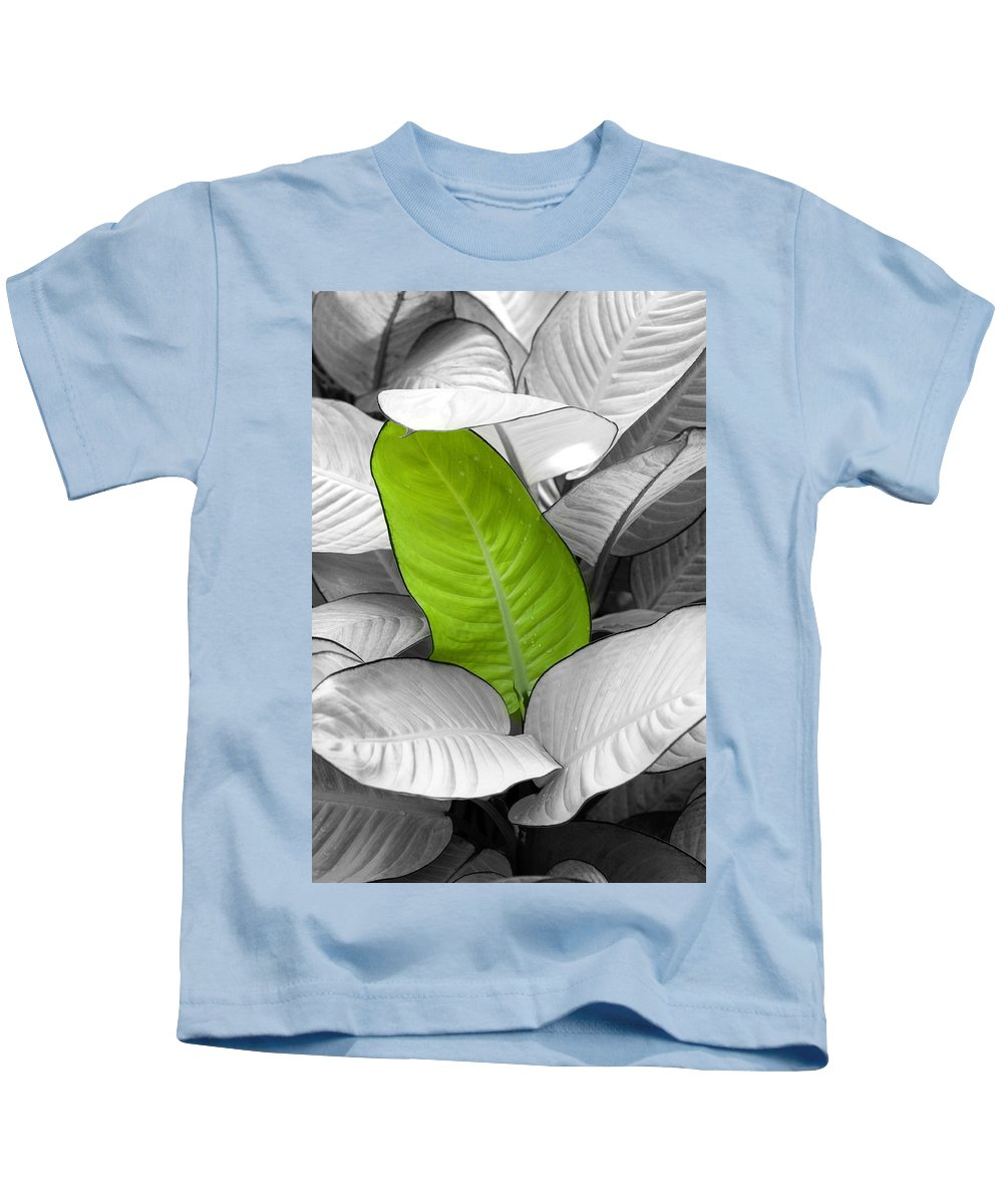 Leaf Kids T-Shirt featuring the photograph Going Green Lighter by Marilyn Hunt
