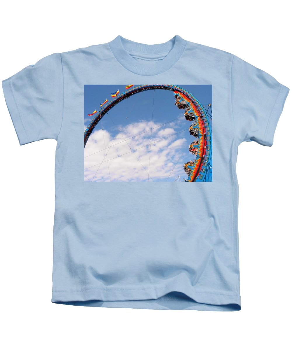 Carnival Kids T-Shirt featuring the photograph Going 'round In Circles by David and Carol Kelly