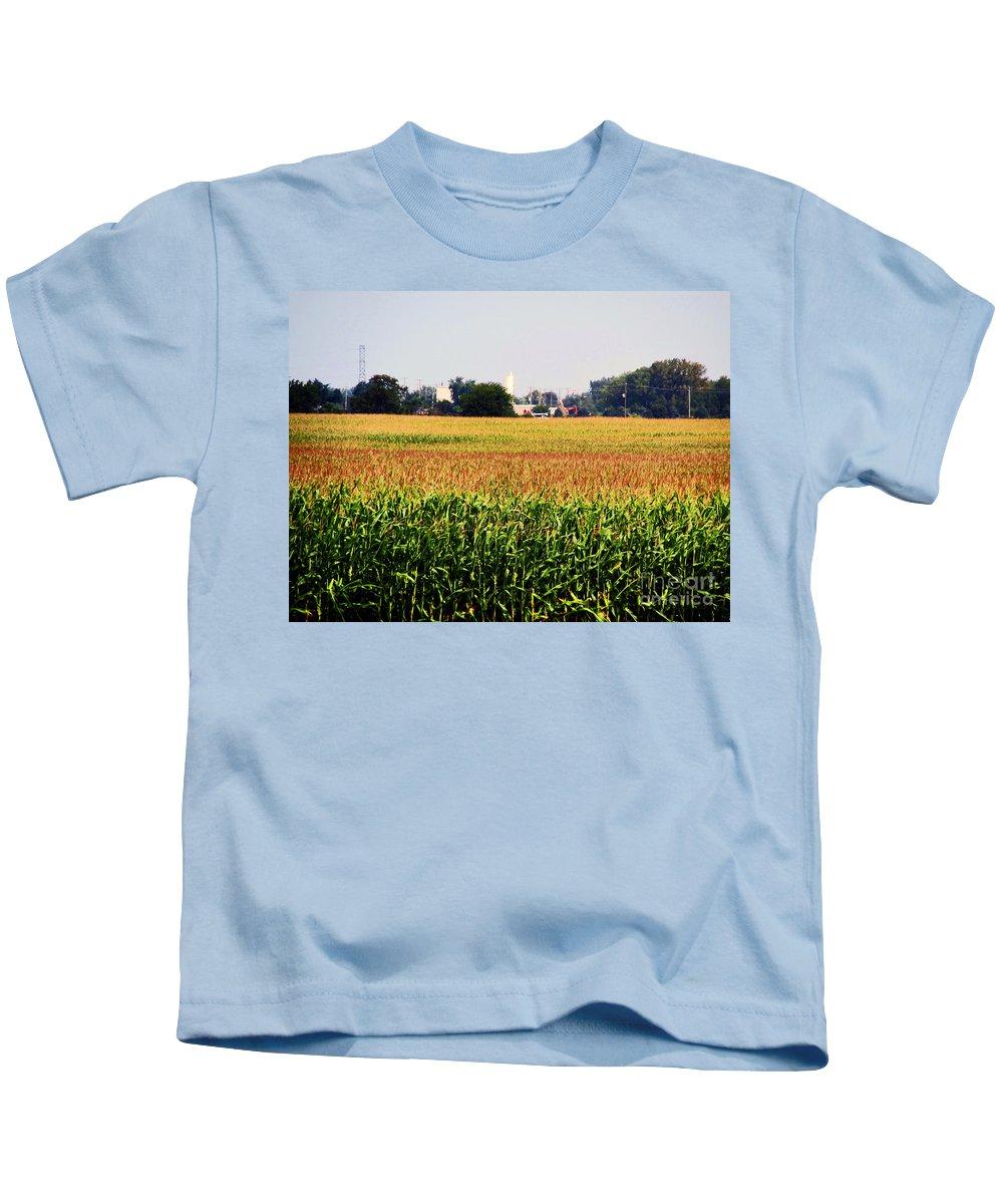 Corn Kids T-Shirt featuring the photograph Gold Field by Don Baker