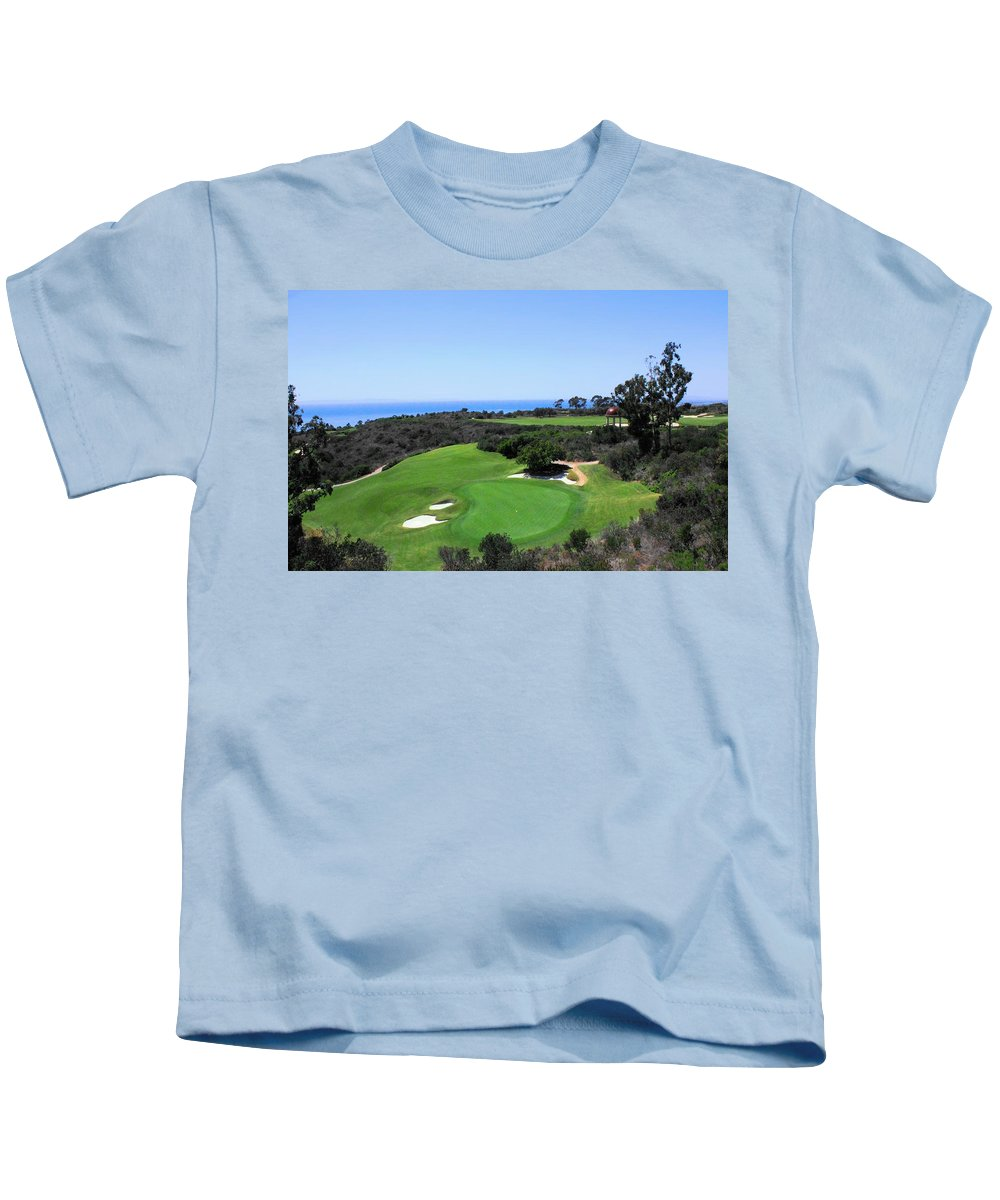 Pelican Hill Resort Kids T-Shirt featuring the photograph Golf Is Rough At Pelican Hill Resort by Natalie Ortiz