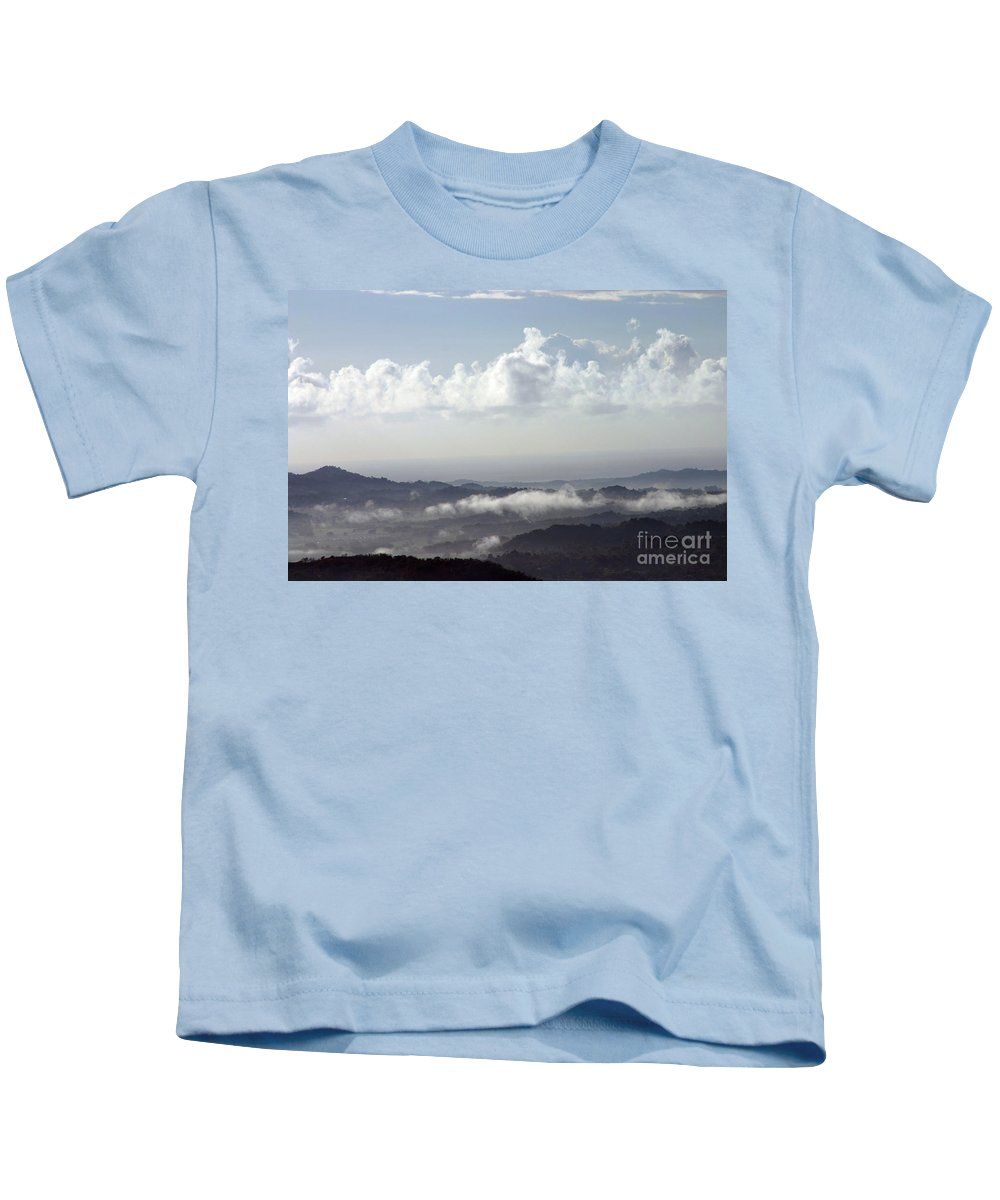 Mountains Kids T-Shirt featuring the photograph Good Morning Puerto Rico by Gilberto Marcano