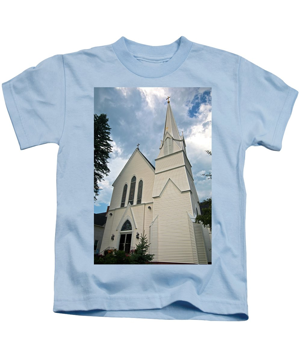 white Mountains Kids T-Shirt featuring the photograph Grace In The White Mountains by Paul Mangold