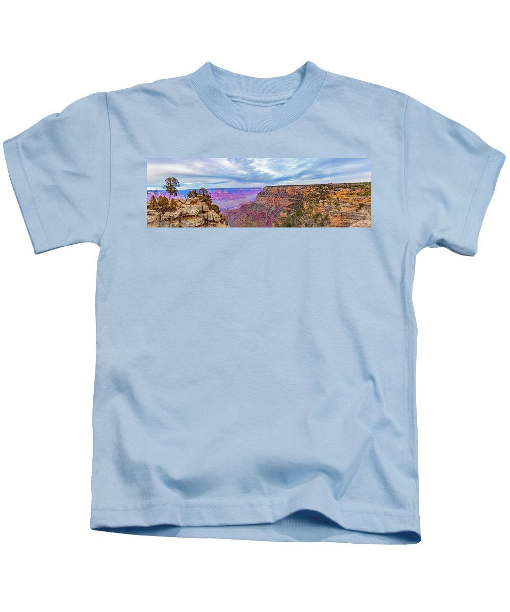 Architecture Kids T-Shirt featuring the photograph Grand Canyon Village Panorama by Daniel Shumny