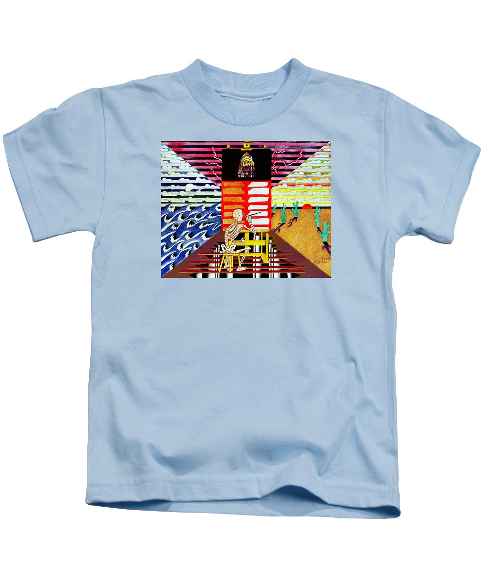 Artist Kids T-Shirt featuring the painting Grand Illusion by Sharron Loree