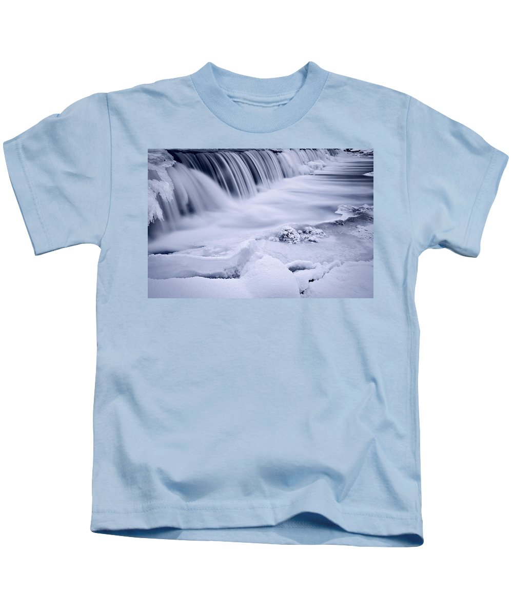 Graue Kids T-Shirt featuring the photograph Graue Mills Falls by Steve Gadomski