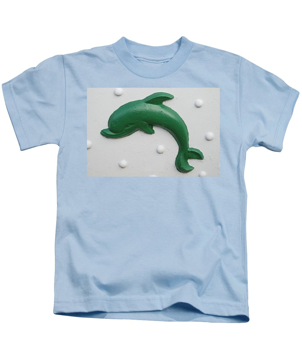 Dolphin Kids T-Shirt featuring the photograph Green Dolphin by Rob Hans